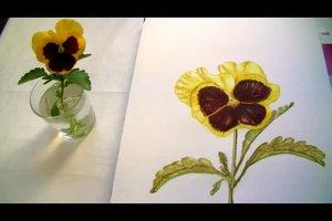 Aquarell-Blumen malen - Schritt für Schritt erklärt