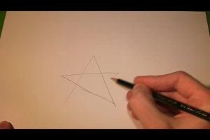 Fünfzackiger Stern zeichnen - so wird´s gleichmäßig
