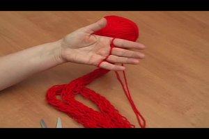 Fingerstricken - Anleitung für einen Schal