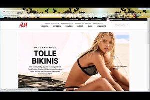 Bei H&M online eine Bewerbung hochladen - so geht's