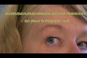 Augenbrauenrasierer richtig anwenden - so sieht's perfekt aus