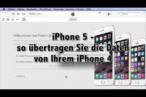 iPhone 5 - so übertragen Sie die Daten von Ihrem iPhone 4