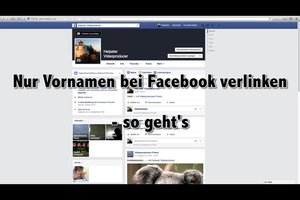 Nur Vornamen bei Facebook verlinken - so geht's
