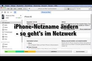 iPhone-Netzname ändern - so geht's im Netzwerk