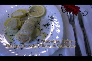 Kabeljau Loins - Rezept für zarte Filets in Senfsoße