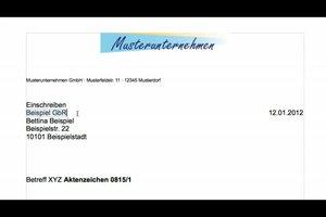 Geschäftsbrief in DIN 5008 schreiben - eine Anleitung