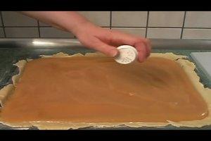 Apfelmuskuchen mit Decke vom Blech - ein Rezept