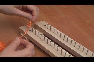 Eine Strickbank selber bauen - so geht es