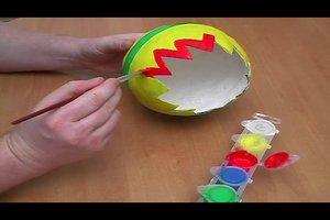 Mit Pappmaschee für Ostern basteln - so geht´s kreativ