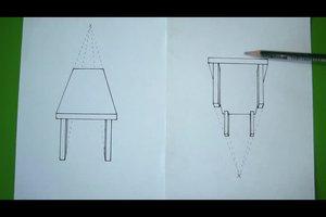 In Fluchtpunkt-Perspektive zeichnen - so geht´s mit einem Fluchtpunkt