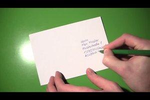 Adresse schreiben - wie man es richtig macht