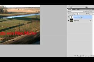 Wasserzeichen erstellen mit Photoshop - Anleitung