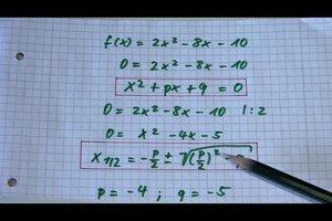 Nullstellen berechnen - schriftlich oder online mit einem Rechner