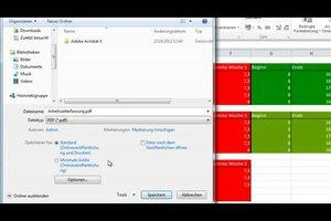 Excel als PDF speichern - Anleitung