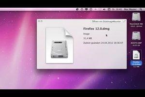 Mac OS X - DMG Datei öffnen