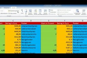 Excel 2010 – Zeile fixieren für bessere Übersicht