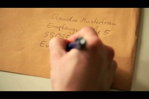 Die perfekte Beschriftung für einen Briefumschlag im Format A4