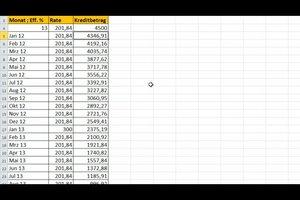 Tilgungsplan mit Excel erstellen - so wird´s gemacht
