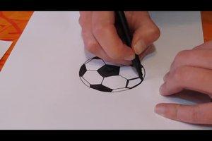 Fußball zeichnen - so gelingt´s