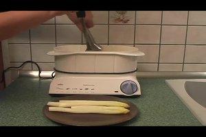 Spargel im Dampfgarer zubereiten - so geht´s