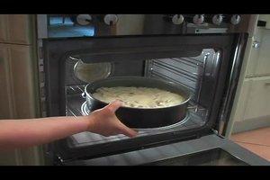Rhabarberkuchen mit Pudding - ein Rezept