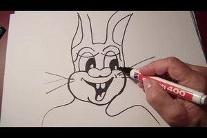 Lustige Osterhasen-Bilder - so zeichnen Sie sie im Comic-Style Schritt für Schritt