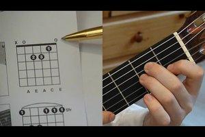 Gitarrengrifftabelle lernen - Anleitung für Anfänger
