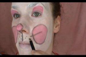 Hasengesicht schminken - eine Anleitung