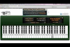 Klavier Tastatur Online