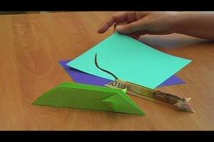 Origami - Maus aus einem Geldschein falten