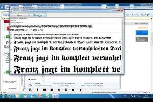 Altdeutsche Schrift in Word einbinden - so geht´s