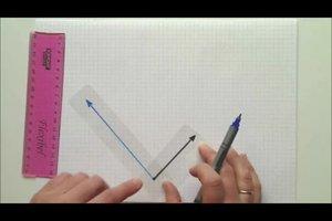 Kräfteparallelogramm zeichnen - Anleitung