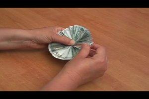 liegestuhl aus geld falten