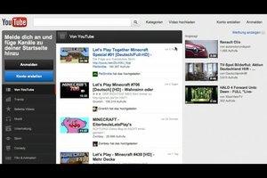 YouTube - Konto erstellen