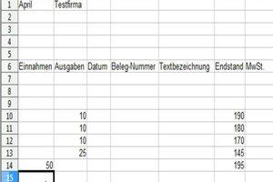 Kassenbericht mit Excel erstellen