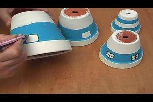 Tontöpfe zum Basteln verwenden - so gelingt ein Leuchtturm