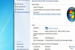 Netbook mit Win7 beschleunigen