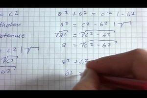 Den Satz des Pythagoras umstellen - so geht's