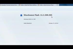 Shockwave Flash Plugin stürzt ab - was tun?