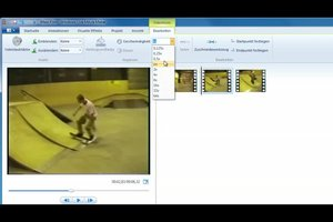 Windows-Live-Movie-Maker - Zeitlupe einstellen