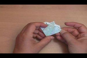 Geld falten - ein Origami-Elefant gelingt so