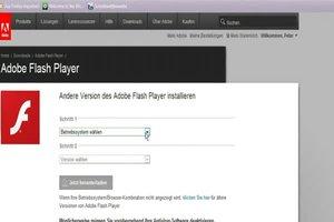 Adobe Flash Player: Aktionsliste nicht gefunden - was tun?