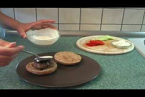 Hamburger - Rezept für einen gesunden Burger