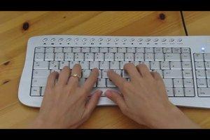 Auf Schreibmaschinen schreiben lernen - so schreiben Sie blind