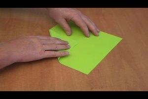 Briefkuvert - so falten Sie zwei verschiedene Formen