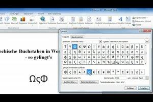 Griechische Buchstaben in Word schreiben - so gelingt's