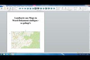 Landkarte aus Maps in Word-Dokument einfügen - so gelingt's