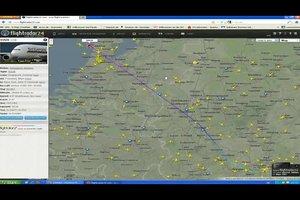 Flugrouten live ansehen - so funktioniert's online