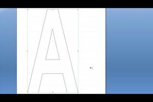 Buchstaben-Schablonen zum Ausdrucken selber anfertigen