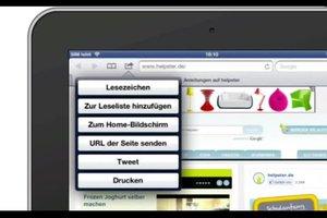 iPad: Lesezeichen erstellen - so gelingt es